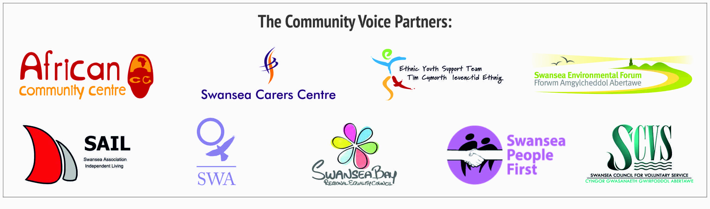 Combined image of all Community Voice partner logos