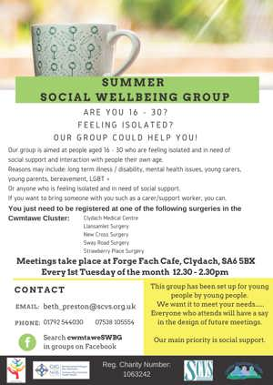 Cwmtawe Summer Social Wellbeing Group 2019