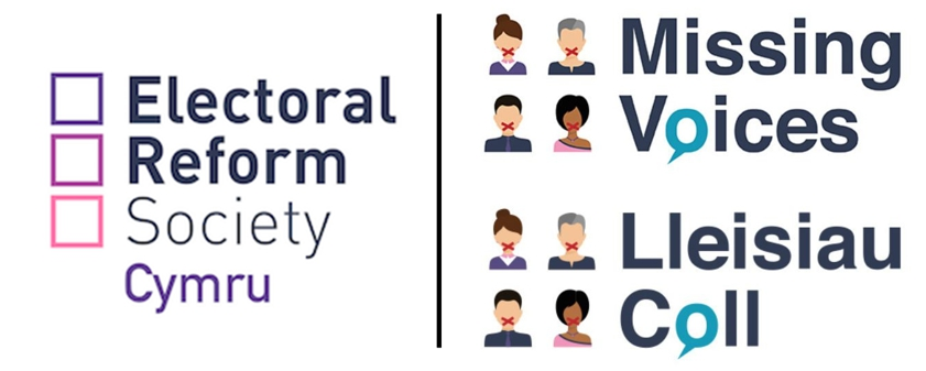 Electoral Reform Society and Missing Voices project logos