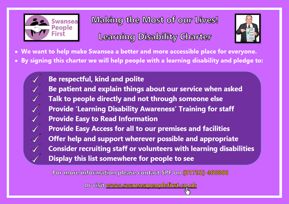Community Champions canvassing their Learning Disability Charter in Swansea