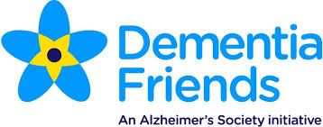 Image of blue flower - symbol of Dementia Friends