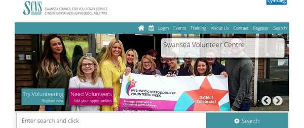 New Vol Wales website screenshot April 2018