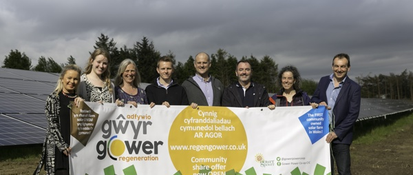 -	Directors, advisors and funders of the first community owned solar farm in Wales: Gower Regeneration Ltd