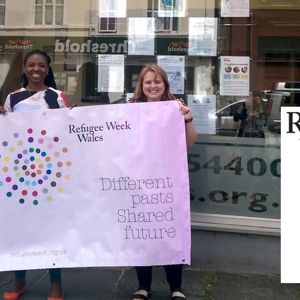 SCVS and CoS Refugee Week picture June 2017 - banner and logo