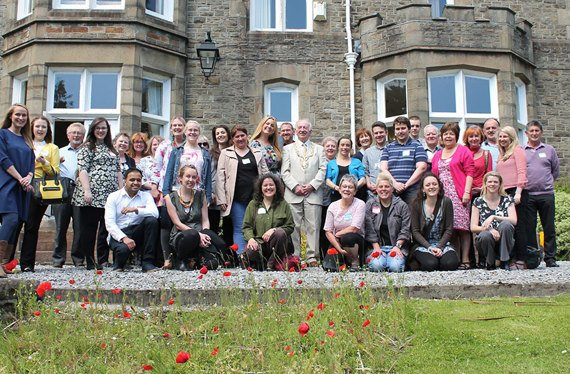 Staff and volunteers during volunteers week 2015
